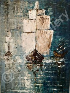 Artist: Masoura Niki Title: return 60x80dim mixed media  950euros Joomla Templates, Mixed Media, Layout, Sea, Abstract, Gallery, Artist, Artwork, Painting
