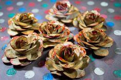 DIY - Como fazer Flores de papel p/ Scrapbook com Papel Kraft
