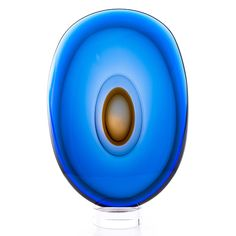 TIMO SARPANEVA, GLASS SCULPTURE. Luna. Signed Timo Sarpaneva, studio Pino Sinoretto, Murano 2000.
