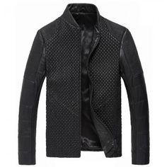 Men Italian Leather jacket CW804076 www.cwmalls.com