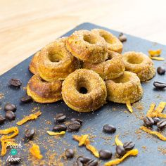 Syn Free Pumpkin Spiced Latte Mini Doughnuts. This is our last Pumpkin spiced latte recipe. I promise! Our baked oats have been pretty popular to say the least. Not only can they be placed into a dish and baked, but with the help of some very cool moulds and tins we can make them into doughnuts! There's…