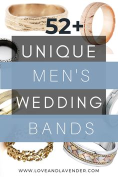 Here is a list of 52+ unique men's wedding bands Wedding Men, Wedding Blog, Wedding Bands, Honeymoon Planning, Wedding Planning, Bridal Ring Sets, Classic Gold, Unique Rings, Wedding Stationery