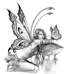 New Fairy Tattoo Designs-THIS MIGHT BE THE ONE!!!   But I think I want color in it.