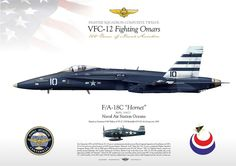 "UNITED STATES NAVY FIGHTER SQUADRON COMPOSITE TWELVE VFC-12 ""Fighting Omars"" Naval Air Station Oceana 100 Years of Naval Aviation Painted as Grumman F-6F Hellcat of VF-12. USS Randolph (CV-15) Air Group circa 1945 F/A-18C VFC-12 ""Fighting Omars"" JP-1097"