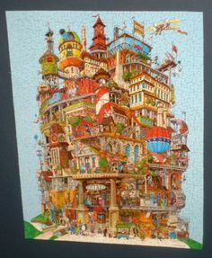 Verticalville 500 Piece Springbok Jigsaw Puzzle Bob Martin PZL4085 COMPLETE $20