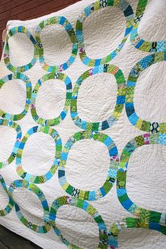 """By STLMQG member Laura  It's the amazing """"Single Girl"""" quilt pattern by Denyse Schmidt! Someday I have to make this."""