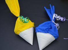 Schultüte aus Papptellern basteln