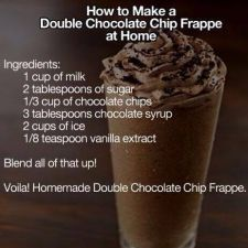 Double Chocolate Chip Frappe Recipe Recipe In 2020 Chocolate Chip Frappe Frappe Recipe Chocolate Frappe Recipe
