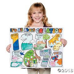 """Color Your Own """"It's All About Creation"""" Posters Creation Bible Crafts, Creation Activities, Bible School Crafts, Preschool Bible, Bible Activities, Sunday School Crafts, 7 Days Of Creation, Bible Coloring Pages, Vacation Bible School"""