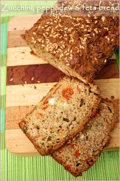 Zucchini, Peppadew, and Feta Bread-Pretty decent, but wouldn't make it again. South African Recipes, Savoury Baking, Food Travel, Summer Food, Breakfast Dishes, Summer Recipes, Bon Appetit, Pastries, Yum Yum