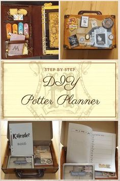 """STEP BY STEP DIY Potter Planner DIY Potter Planner Step by Step Bracelette for decoration DIY paperclips (tutorial on this blog) Cut divider from thin black cardboard Download and print the """"Mi..."""