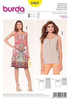 Burda 6969 Tops, Shirts, Blouses sewing pattern