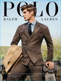 Bertold Zahoran sports Polo Ralph Lauren's three-piece Morgan suit for the…