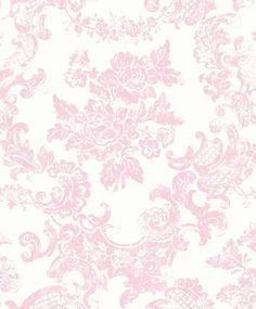 Tea Rose - M0756 - Vintage Lace - Pink - Damask - Wallpaper