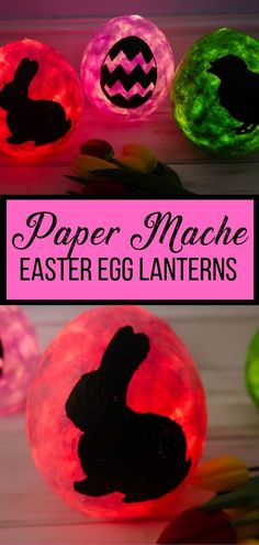 Egg-shaped Paper Mache Easter Lanterns - a great #DIY decoration or a craft to do with kids, these egg-shaped Easter Lanterns look great as a table centrepience, or decorations for an Easter meal, party or egg-hunt. #Easter #eastercrafts #eastercraftsforkids #easter #eastercraftsdecorations #eastercraftproject #papermache #easterlanterns #easterdecor #easterdecorations  #easterdiy