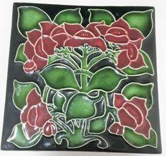 Gorgeous Art Nouveau Style Tile From