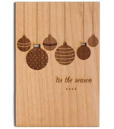 I love these wooden Christmas cards!
