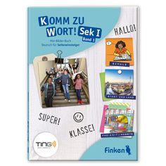 """""""Komm zu Wort! Sek 1"""" ist entwickelt für den Start in die deutsche Sprache und richtet sich an Schüler in der Sekundarstufe 1, die – meist im laufenden Schuljahr – ohne Deutschkenntnisse ins deutsche Schulsystem """"quereinsteigen"""". Mithilfe eines Hörstiftes (BOOKii) können sich die Schüler vom ersten Tag an hörend einen grundlegenden Wortschatz aneignen – ganz ohne Lesekenntnisse. Der Hörstift """"liest"""" den Schülern jedes gedruckte Wort und das dazugehörige Bild """"vor"""" und schult so das… Books, Band, Vocabulary Building, Small Groups, Learn Languages, German Language, Grammar, Libros, Sash"""