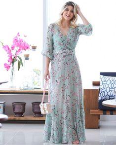 💟💟💟 Cute Floral Dresses, Stylish Dresses, Vintage Dresses, Nice Dresses, Fashion Dresses, Summer Dresses, Full Gown, Nursing Dress, Velvet Fashion