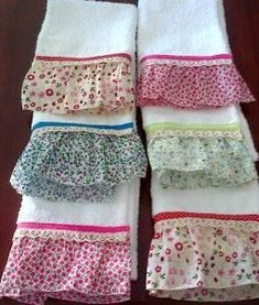 APRENDE A HACER TOALLAS PARA LA COCINA PASO A PASO Dish Towels, Hand Towels, Tea Towels, Kitchen Linens, Kitchen Towels, Sewing Crafts, Sewing Projects, Sewing To Sell, Towel Crafts