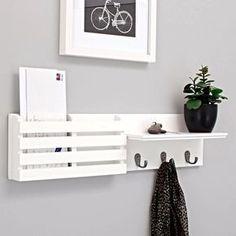 WALL MOUNTED MAIL Organizer Letter Holder Key Sorter Rack Hanger White Top Decor | Home & Garden, Home Décor, Wall Shelves | eBay!