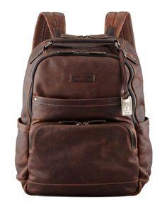 Frye Logan Men's Leather Sırt Çantası - Kahverengi