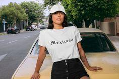 Mexicana Shirt - Latina Shirt - Latina Feminist - Latina Shirts - Latina Power - Gift for her - Latinx - Chicana Shirt-Chingona-Xicana Mom Shirts, Cool T Shirts, T Shirts For Women, Clothes For Women, Teen Fashion Outfits, Cool Outfits, Look Chic, Shirt Style, Latina