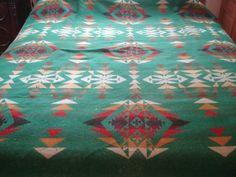 Vintage Wool Camp Blanket Vintage Blanket by whiskeypointpottery