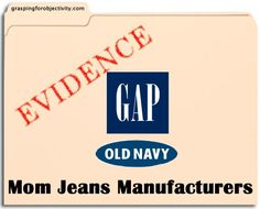 Conclusive evidence that Gap and Old Navy make Mom Jeans.