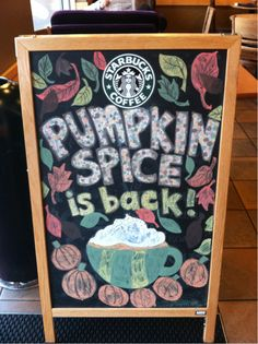 Pumpkin spice latte is back #starbucks