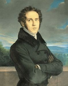 Vincenzo Bellini (1801-1835), painting (1835), by Frédéric Millet (1786-1859).