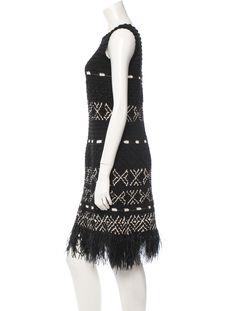 Oscar de la Renta Crochet Dress - Dresses - OSC28503 | The RealReal