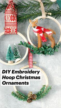 Easy Christmas Ornaments, Christmas Love, Handmade Christmas, Christmas Holidays, Simple Christmas Crafts, Homemade Christmas Crafts, Diy Christmas Decorations For Home, Diy Ornaments, Christmas Gift Wrapping