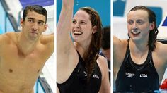 Michael Phelps, Missy Franklin and Katie Ledecky