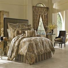 Queen New York Bradshaw California King Comforter Set In Natural Queen Comforter Sets, Queen Beds, Brown Comforter, Main Image, Queens New York, Luxury Bedding Sets, How To Make Bed, Bed Sizes, California King