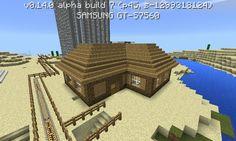 Minecraft PE dřevěný dům