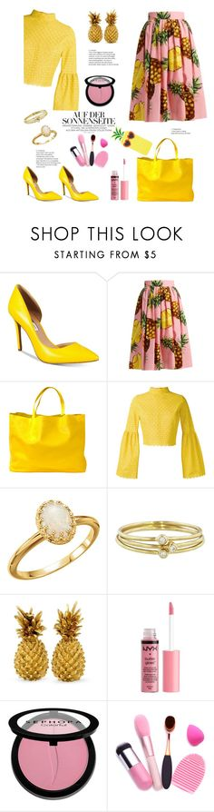 """""""pineapple Express"""" by felicitysparks ❤ liked on Polyvore featuring INC International Concepts, Dolce&Gabbana, CÉLINE, Daizy Shely, Jennifer Meyer Jewelry, Charlotte Russe and Sephora Collection"""