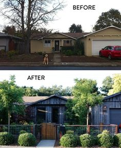 Before and After: Add curb appeal to a ranch house via http://bit.ly/1JpExX9 l Gardenista