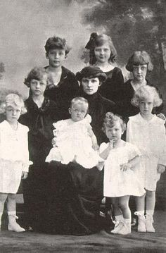Former Empress Zita with her children shortly after the death of her husband.