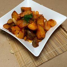 Batatas ao estilo Cajun <3  #batatacajun #cajun #receita