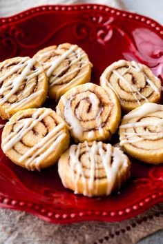 Simple and sweet cinnamon roll cookies made from sugar cookie dough! These cookies are completely irresistible!