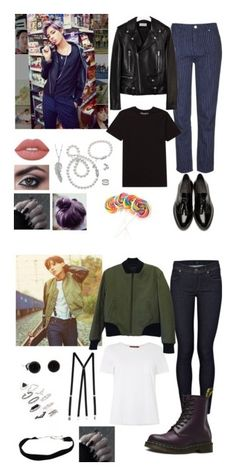 """BTS-Outfits"" by parkjiminie ❤ liked on Polyvore featuring Topshop, Yves Saint Laurent, Billabong, Burberry, Mikimoto, Penny Preville, Lime Crime, American Apparel, Citizens of Humanity and MaxMara"