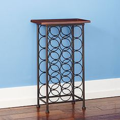 18-bottle Wood Top Wine Rack