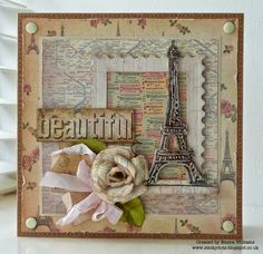 Beautiful....created using Sizzix dies and the Postcards From Paris paper pad