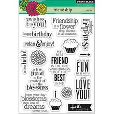 Penny Black Clear Stamps Sheet Friendship
