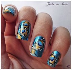 peacock nails >> http://amykinz97.tumblr.com/ >> www.troubleddthoughts.tumblr.com/ >> https://instagram.com/amykinz97/ >> http://super-duper-cutie.tumblr.com/