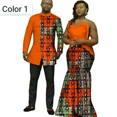 2020 African Print Clothes for Couple Dashiki elegant lady party Dresses and men shirts cotton African Clothing African Wedding Attire, African Attire, African Wear, African Weddings, African Lace, African Shirts For Men, African Clothing For Men, African Fashion Ankara, African Fashion Designers