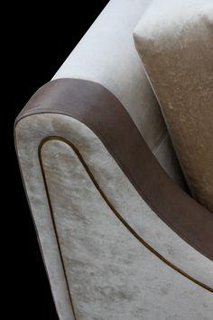 Metal Trim Sofa Detail