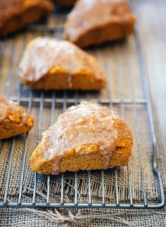 Maple Glazed Pumpkin Scones @Allison Ruth