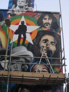 New street art in Brighton (corner of Trafalgar Street) -  detail.